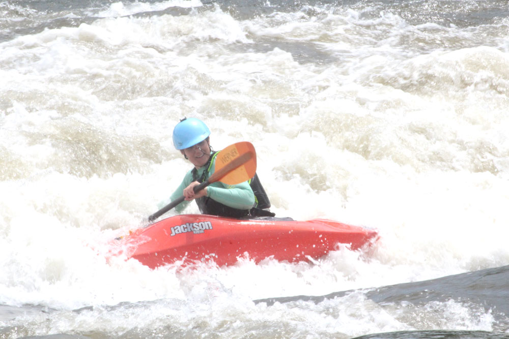 Summer Iowa Games whitewater contest in Charles City on Saturday