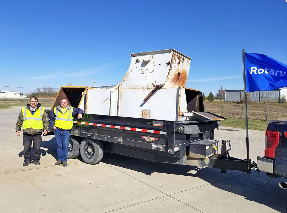 Rotary metal scrap drive a chance to clear out junk, support community projects