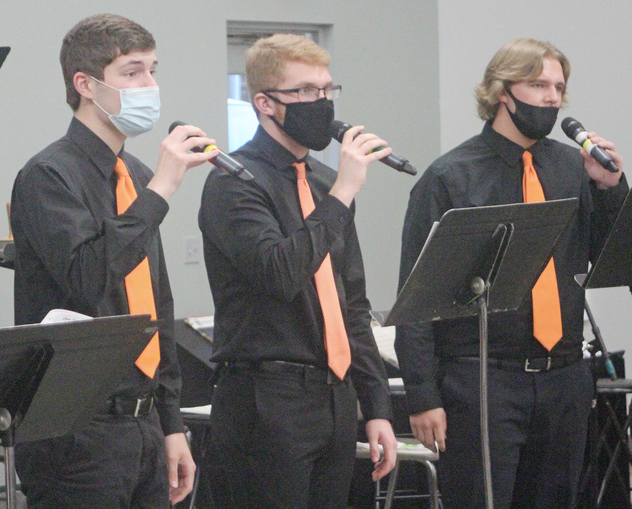 Charles City High School music groups jive and jazz