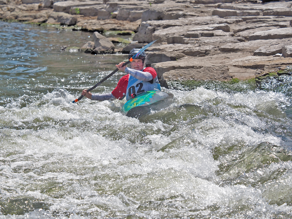 Low water, high spirits in Summer Iowa Games whitewater contests in Charles City
