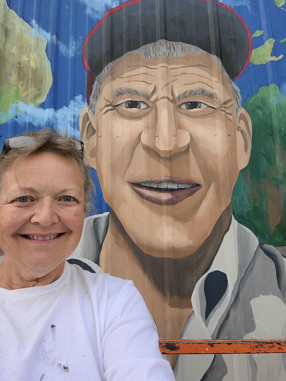 Macomber creates Cresco mural honoring Borlaug