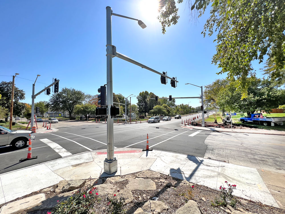 Traffic signal installation marks end coming near for Charles City Highway 18 project