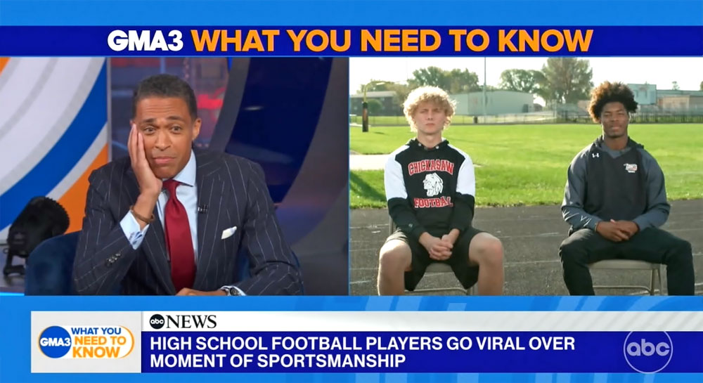 Viral photo lands local student-athletes on national television